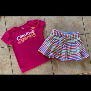 Girls Gymboree Outfit Top & Skirt 7